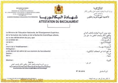 Bac certificat vierge